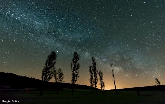 La Vía Láctea en uno de los lugares donde crece la Falaguera.